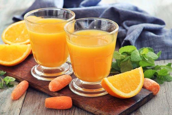 tác dụng nước ép cam cà rốt