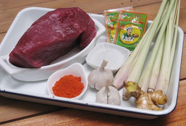 Nguyên liệu chính để làm món thịt bò