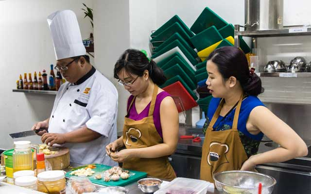 học nấu ăn tại hnaau