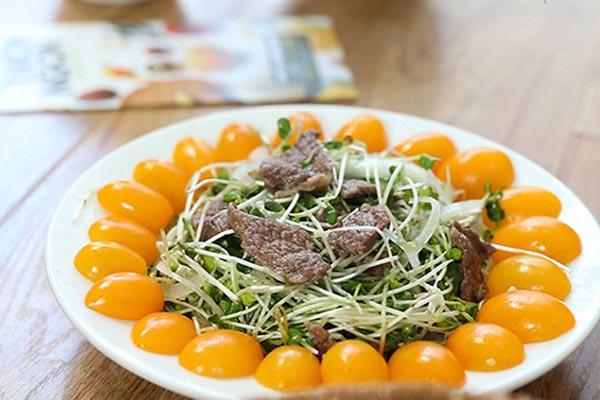 Rau Cải Mầm Trộn Thịt Bò – Siêu Món Ăn Cải Thiện Vóc Dáng Tuyệt Vời