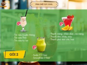 GÓI 2: CÁC LOẠI TRÀ SỮA - THẠCH - SODA - SMOOTHIES