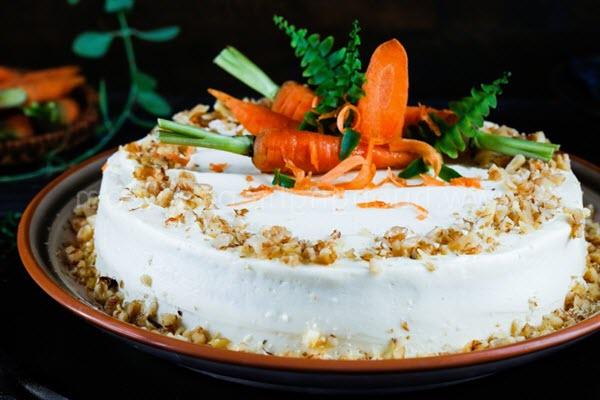 hình bánh cà rốt carrot cake