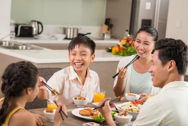 Hạnh phúc gia đình từ những bữa cơm ngon