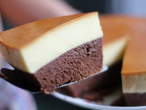 hình ảnh bánh flan gato