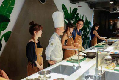 Hình lớp học nấu ăn gia đình