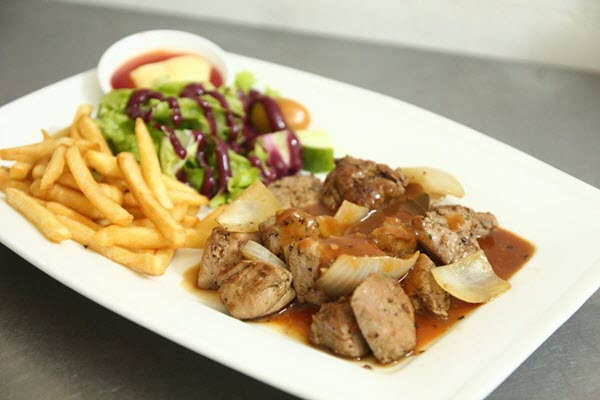 hình món ăn nhà hàng beefsteak titi