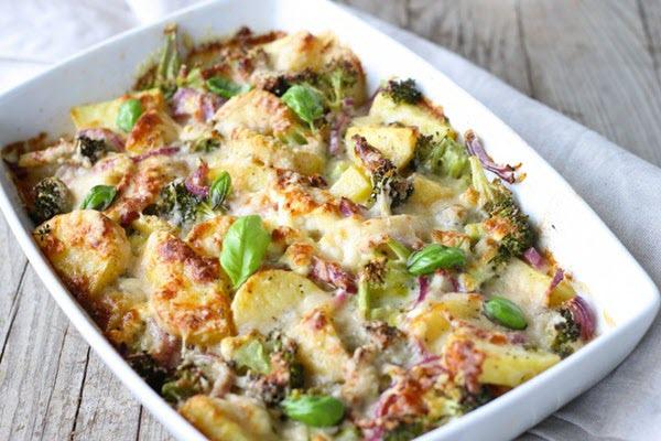 hình món ăn từ bông cải xanh