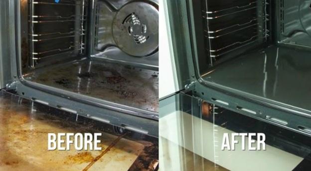 vệ sinh bếp bằng baking soda