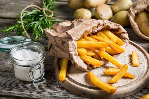 Cách chiên khoai tây giòn ngon
