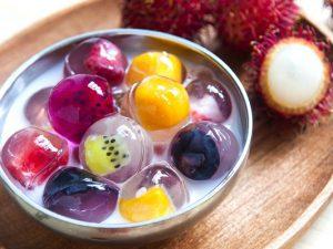 Cách làm chè thạch trái cây đẹp mắt