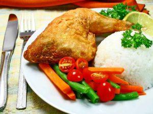 cách nấu cơm gà xối mỡ
