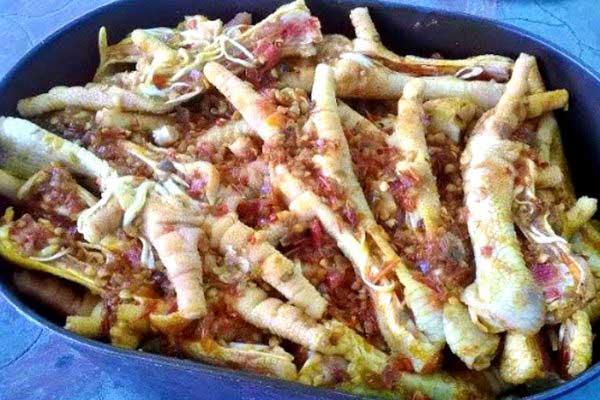 cách ướp chân gà nướng muối ớt