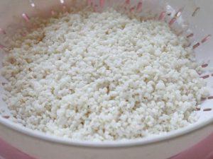 chọn gạo nếp làm cơm cháy