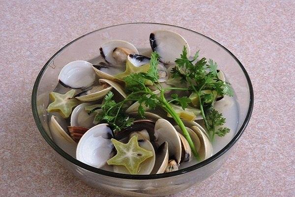 hình ảnh canh ngao nấu chua