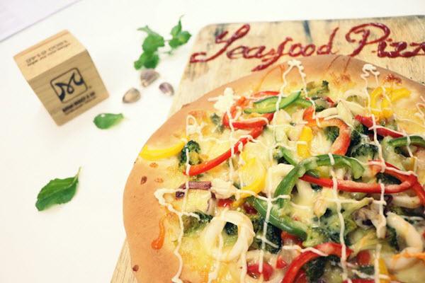 hình bánh pizza hải sản