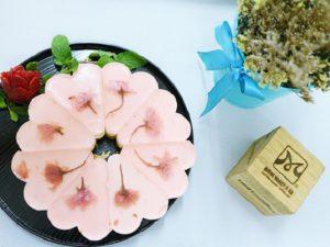 hình bánh sakura cheesecake