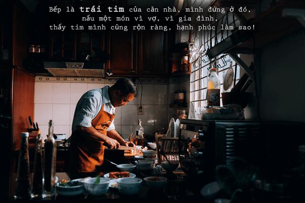 Hình bếp là trái tim