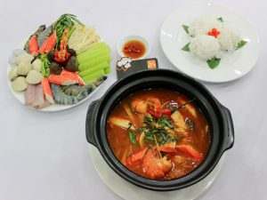 hình ảnh món lẩu hải sản chua cay