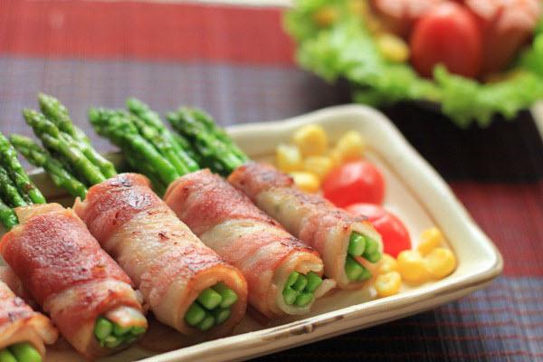 Hình món ăn từ măng tây