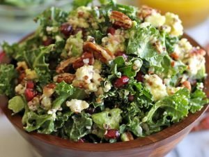 hình salad bơ lựu