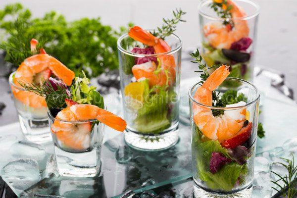 hình salad tôm cocktail