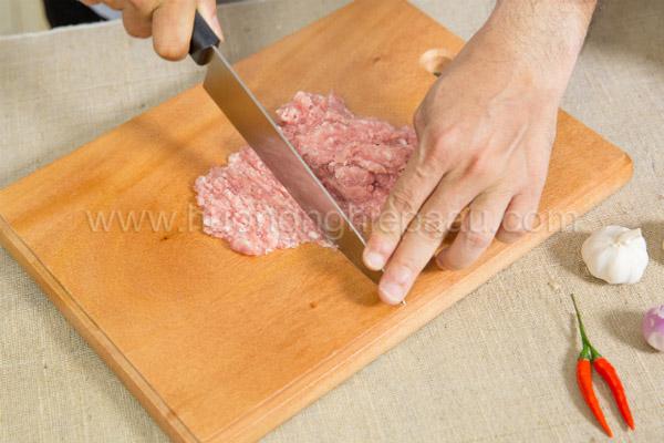 Hình thịt heo băm nhuyễn