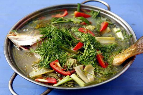 Hình canh cá nấu dưa chua