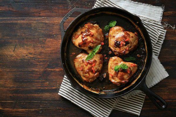 Hình thịt gà om nước cốt dừa