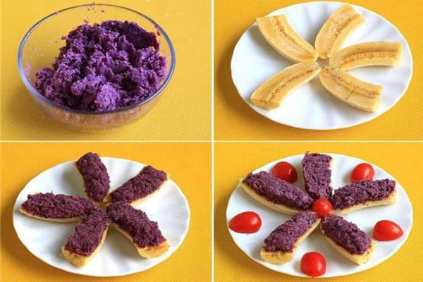 Bánh chuối khoai lang tím