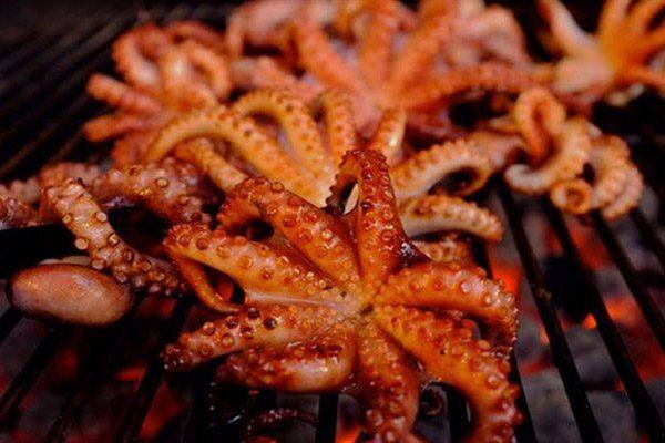 thưởng thức bạch tuộc