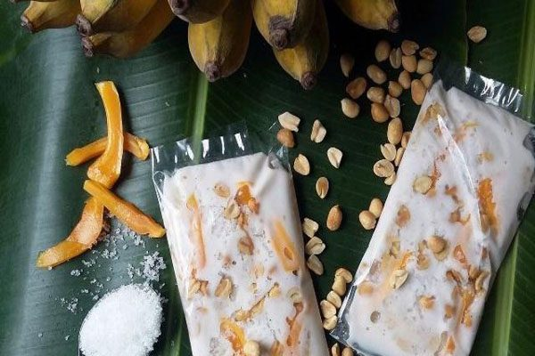 cách làm kem chuối bịch