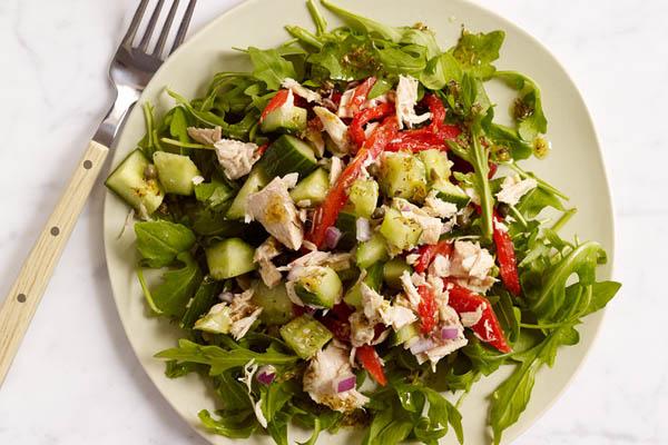 salad cá ngừ dầu giấm