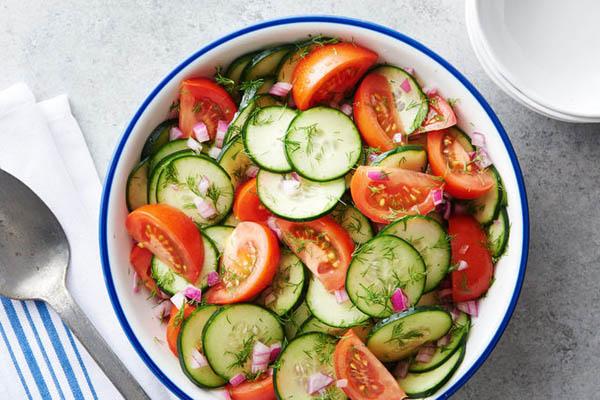 salad dưa chuột cà chua