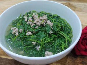 canh rau má thịt bò