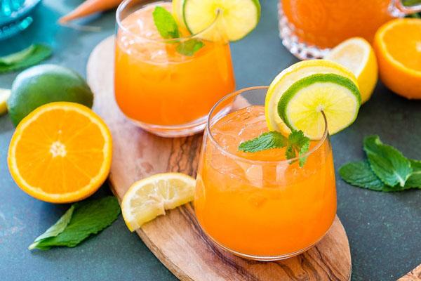 nước ép cam cà rốt