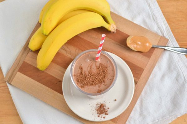 sinh tố chuối chocolate